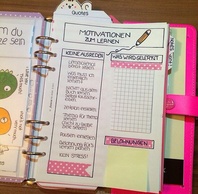 Tweetflock on Instagram. A motivation sheet for your planner! Awesome idea!