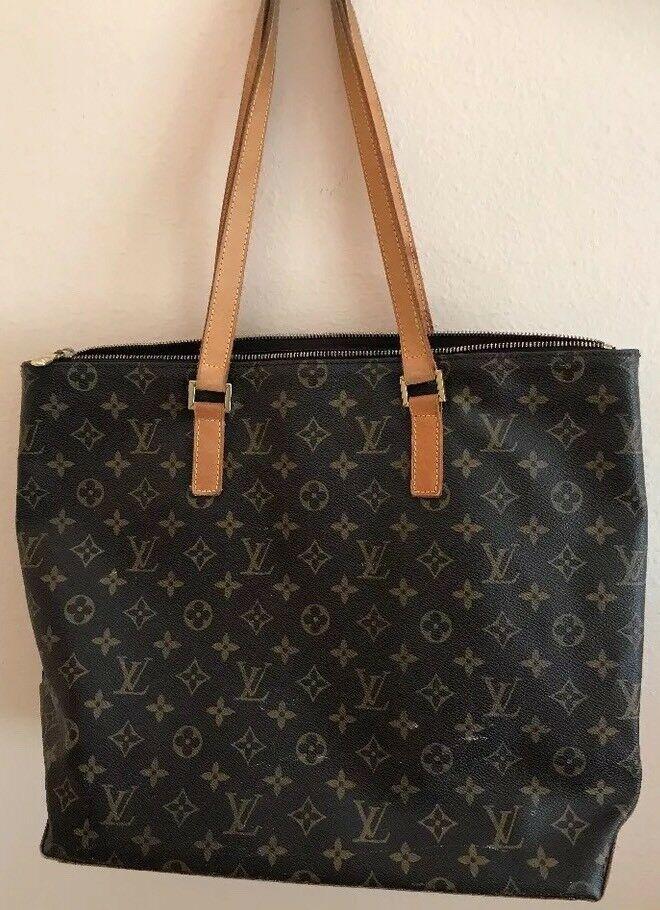 6989fc792ff eBay Ad) AUTHENTIC Louis Vuitton Monogram Canvas Cabas Mezzo ...