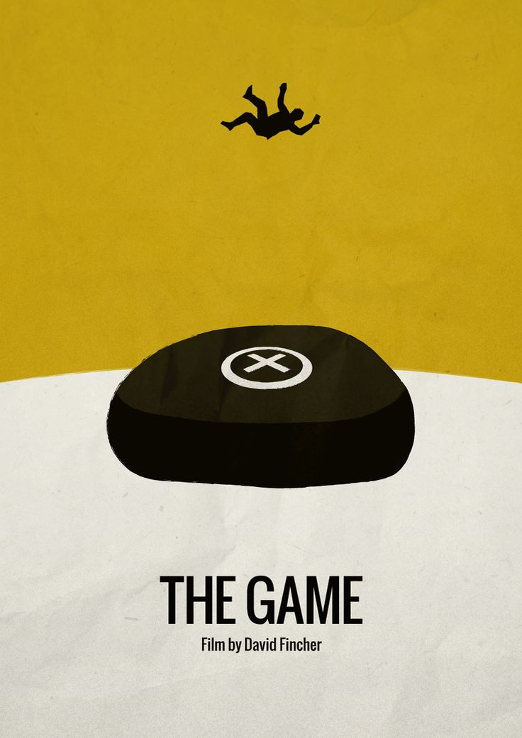 The Game (1997) - Minimalist movie poster Film by David Fincher IMDB link