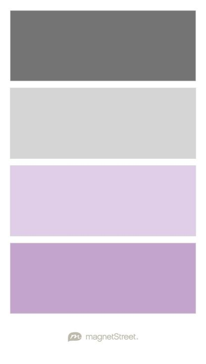 Charcoal, Silver, Lavender, and Lilac Wedding Color Palette - custom color palette created at MagnetStreet.com