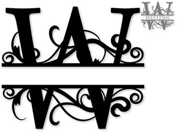 Image result for Free Monogram Fonts Split