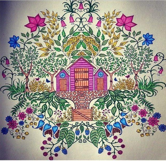 Little House Secret Garden Casinha Jardim Secreto Johanna Basford Vi Secret Garden Coloring Book Johanna Basford Coloring Book Secret Garden Colouring