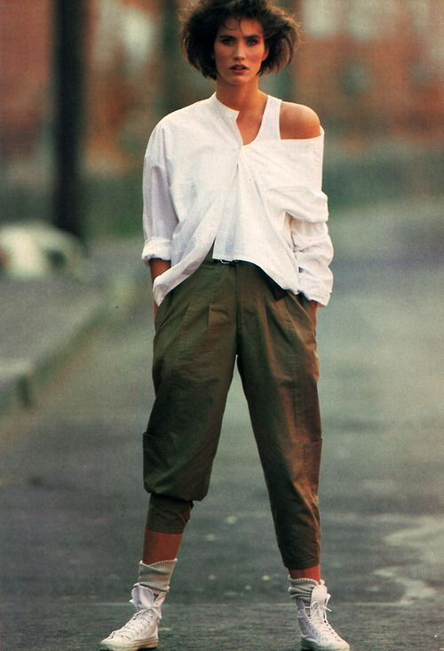 Forenza, American Vogue, June 1984. I copied this exact outfit, down to the shoes that summer,  reminds me of those nights at Andy Capps shooting B52's