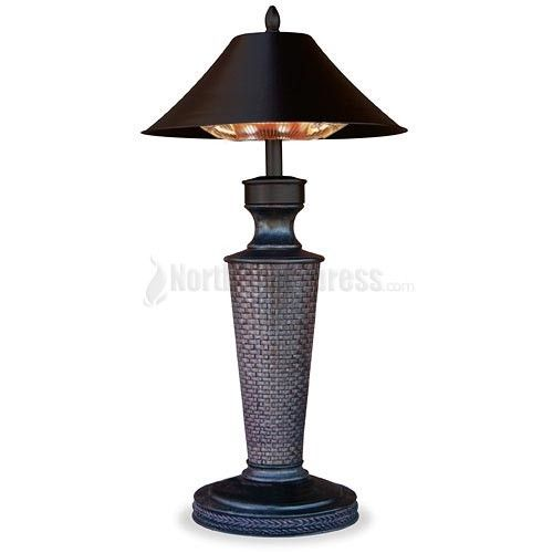 Turn a chilly day into a tropical vacation day on your deck or patio with the Endless Summer Vacation Day electric patio heater. The Vacation Day electric outdoor heater heats up to a 5' diameter circle with approximately 4,095 BTU per hour, using a 1,200 watt halogen bulb! It's perfect for use indoors and features weather-resistant hardware, making it ideal for outdoor use as well.