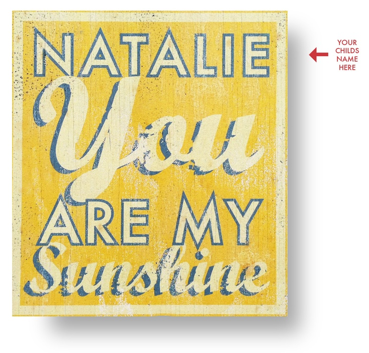 Custom you are my sunshine rustic wooden sign 15 x 16 45 for Vintage sites like etsy