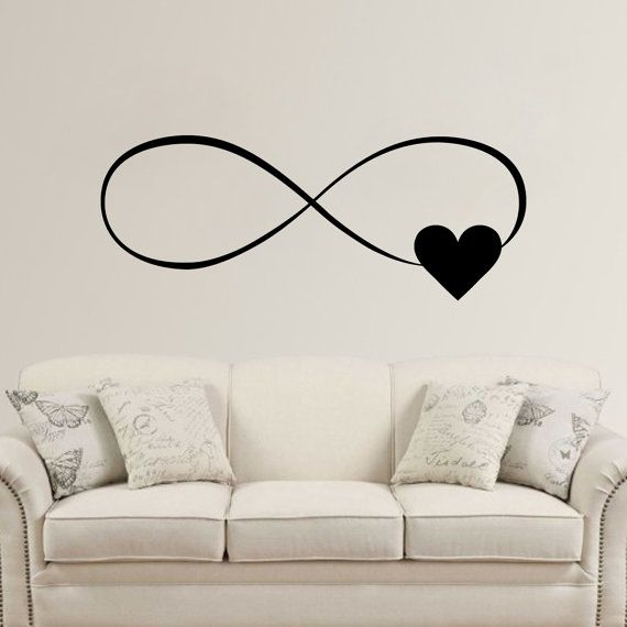 Infinity Heart  Wall Vinyl Decal Sticker by LighthouseDecals