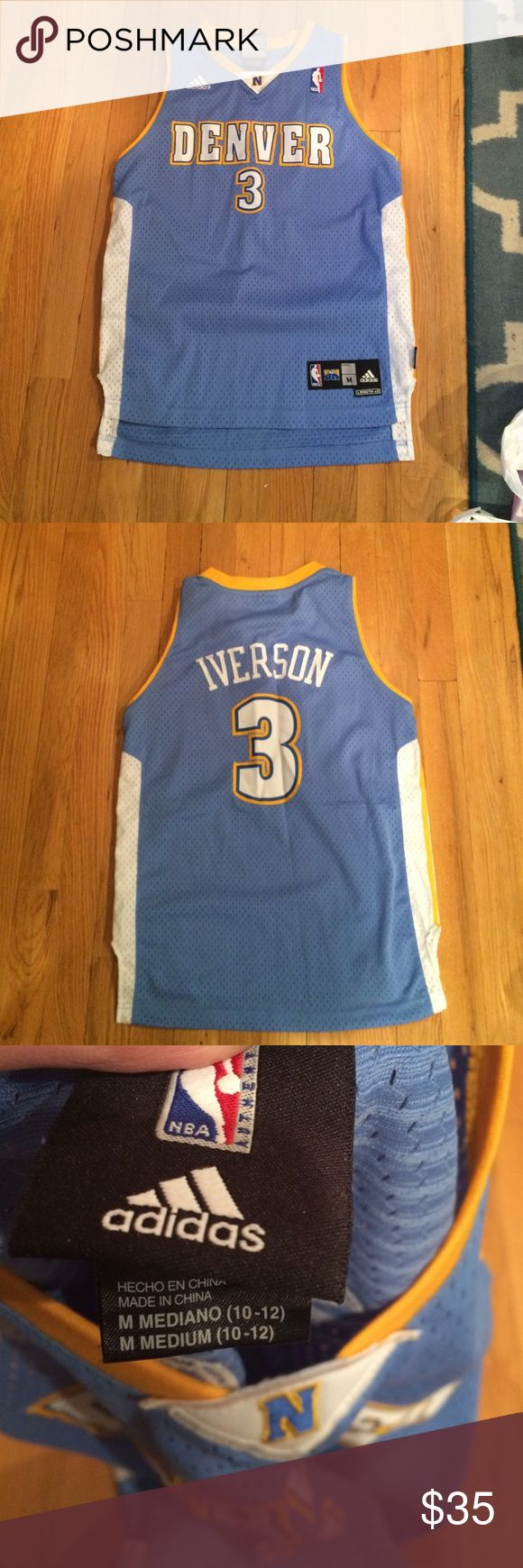 Authentic Allen Iverson Jersey Youth M Jersey was worn once. In excellent condition. Fits a woman's small. Youth 10-12 Adidas Other