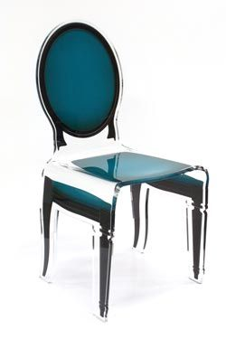 Chaise vert canard en acrylique Sixteen #vraimentbeau #acrila #chaise #chair #soldes #transparent #interiordesign