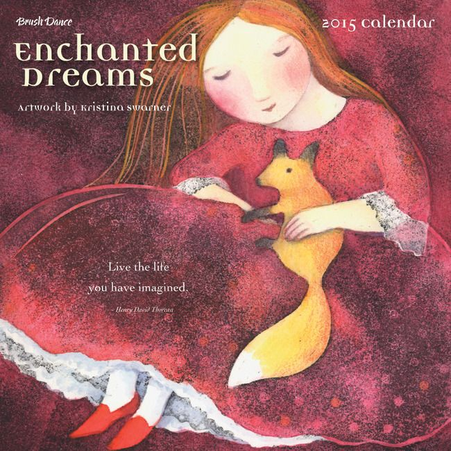"""Brush Dance - Enchanted Dreams 7"""" Mini Wall Calendar - 2015, $7.95 (http://www.brushdance.com/enchanted-dreams-7-mini-wall-calendar-2015/)"""