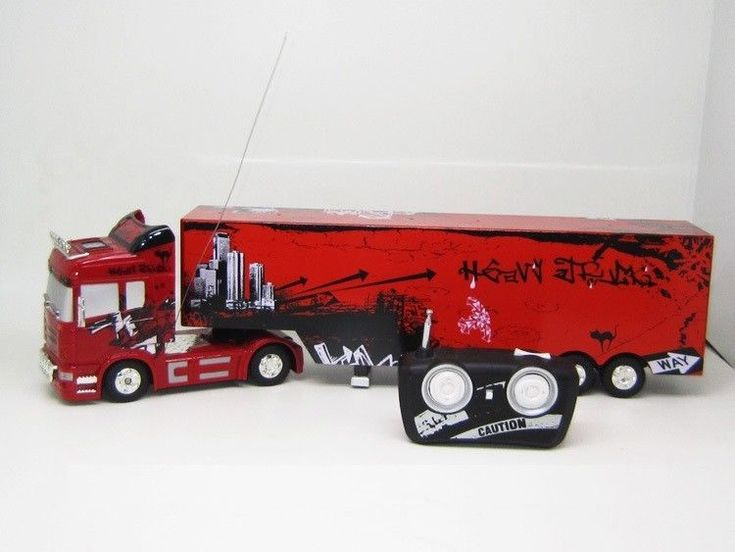 Radio Remote Control RC Toy 6CH Heavy Truck Big Size Container Trailer 1:32 RTR #Unbranded