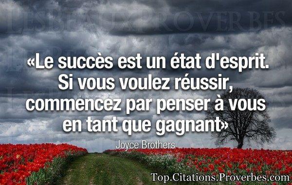 citations : Le succès est un état d'esprit. Si vous vo...