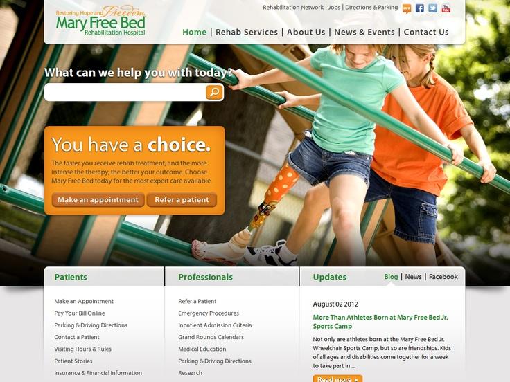 Top 10 Kentico Websites for July 2012 http://devnet.kentico.com/Blogs/Lenka-Navratilova/August-2012/Top-10-Kentico-Websites-for-July-2012.aspx Mary Free Bed Rehabilitation Hospital – Site Redesign  Implemented by:  BizStream, USA  Kentico Gold Partner