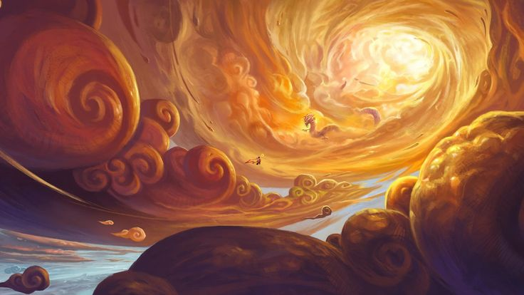Fantasy art of Chinese dragon shuttling in clouds - Art Wallpapers - Hi-Wallpapers.com