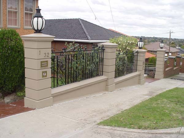 Masonry Fence Design 13 best masonry fence images on pinterest brick fence cement and footing for cement block fence post workwithnaturefo