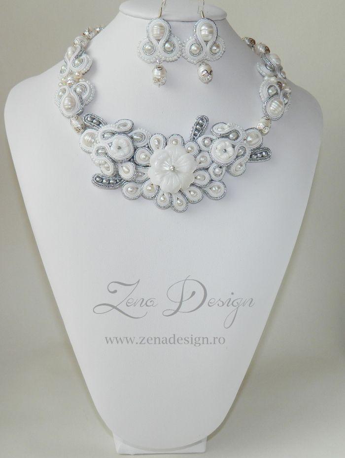 "New! Bride jewelry soutache – ""Yes, I do!"" | Zena Design"
