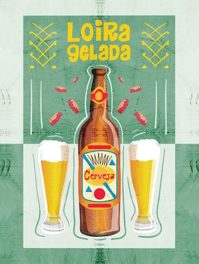Loira Gelada - Pôster Cerveja