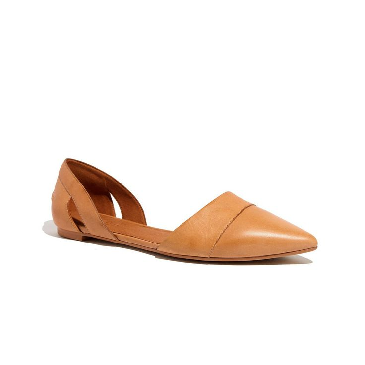 Madewell The D'Orsay Flat In Leather