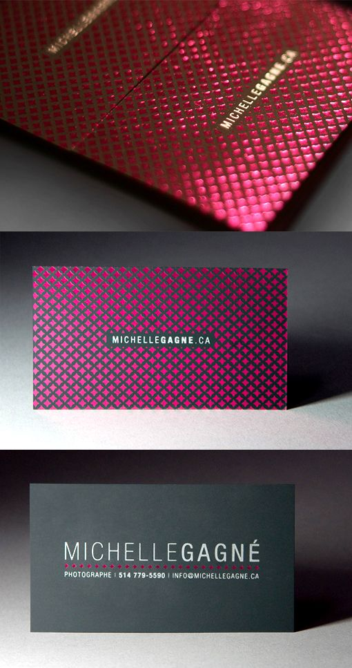 Extravagant Hot Foil Stamped Business Card For A Fashion Photographer