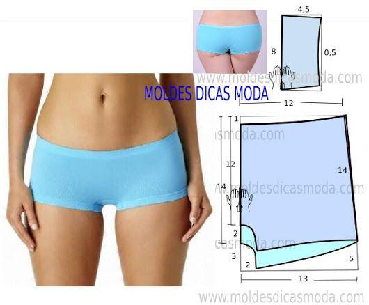 BOXER FEMININO - Moldes Moda por Medida