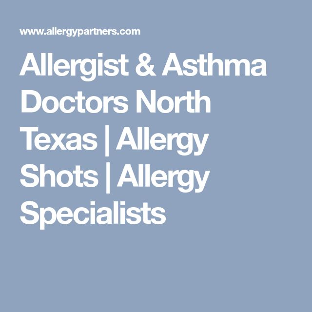 Allergist & Asthma Doctors North Texas | Allergy Shots | Allergy Specialists