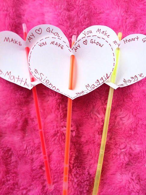Glow Stick Valentine - No cavities, plus what kid doesn't like glow sticks?!