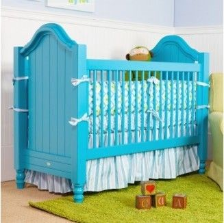 Cape Cod Beadboard Crib - beach-style - Cribs - Newport Cottages