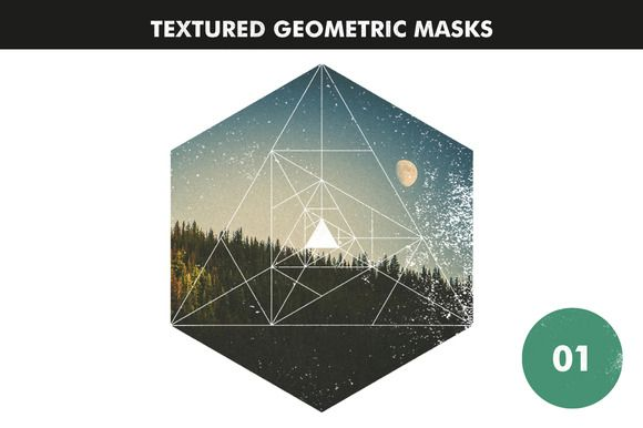 Textured Geometric Masks by Offset on Creative Market