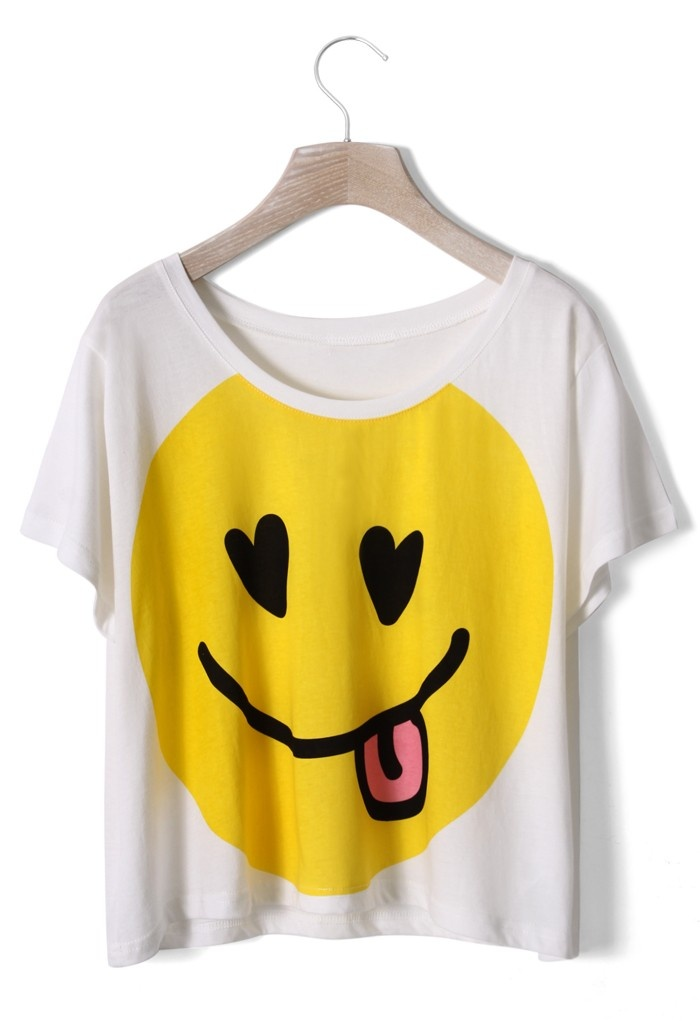 31 best smiley t shirts tops images on pinterest. Black Bedroom Furniture Sets. Home Design Ideas