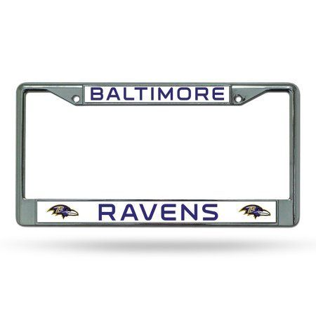 Baltimore Ravens NFL Chrome License Plate Frame, Multicolor