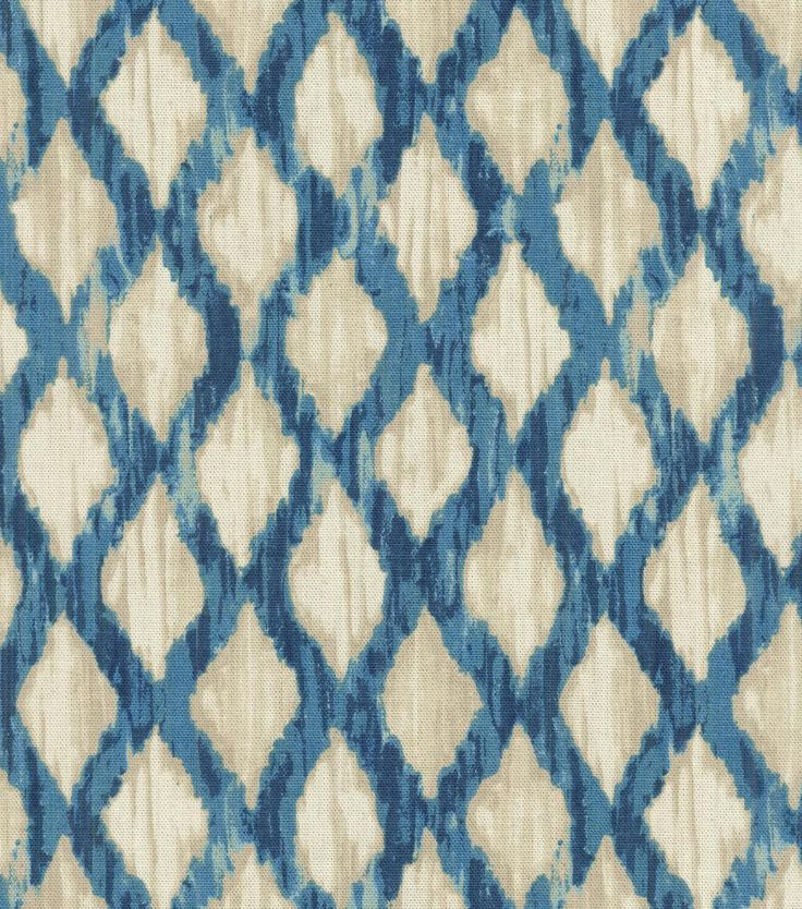 Kelly Ripa Upholstery Fabric Floating Trellis Indigo