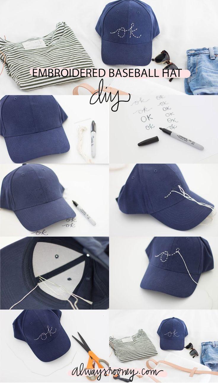 always rooney: Embroidered Baseball Hat | DIY