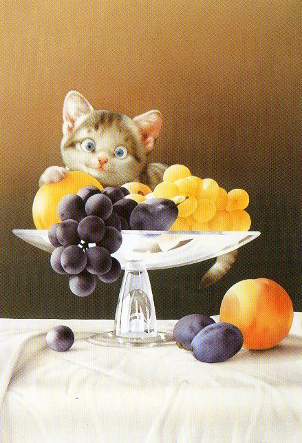 """Muramatsu Cat 23--Not Available"" by kyoto348   Makoto Muramatsu Cats Postcards Collection, Japan ~ one for sarkka - one for agapka    September 5, 2012"