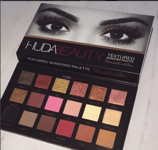Huda Beauty Textured Shadow Palette -sneak peak