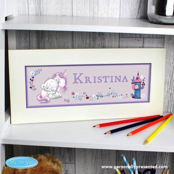 Personalised Tiny Tatty Teddy Unicorn Name Frame | Tatty teddy, Baby ...
