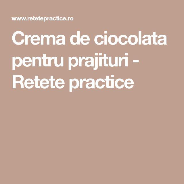 Crema de ciocolata pentru prajituri - Retete practice