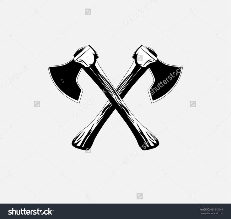 Lumberjack axes crossed , axe icon Vector illustration  #Lumberjack #axes #crossed  #axe #cut #chop
