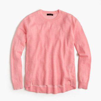 Lightweight wool tunic sweater - Shop for women's Sweater - flamingo white Sweater