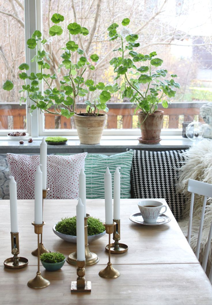 Love the candlesticks and the plants