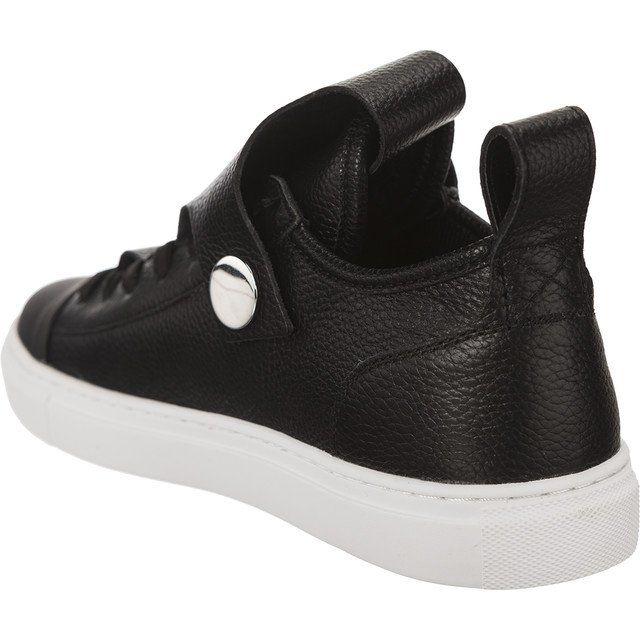 Polbuty Damskie Armanijeans Czarne Armani Jeans Woman Leather Sneaker Leather Sneakers Women Leather Women Sketchers Sneakers