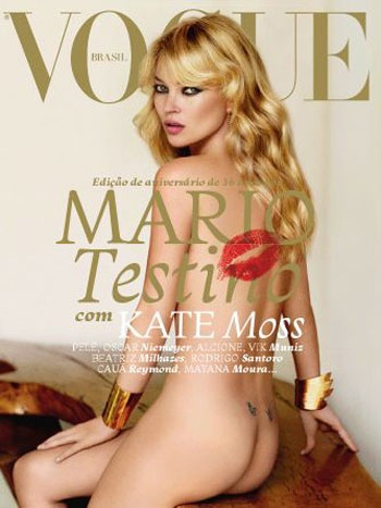 Kate Moss nueMario Testino, Fashion, Vogue Brazil, Katemoss, Mariotestino, Magazines Covers, Vogue Brazil, Vogue Covers, Kate Moss