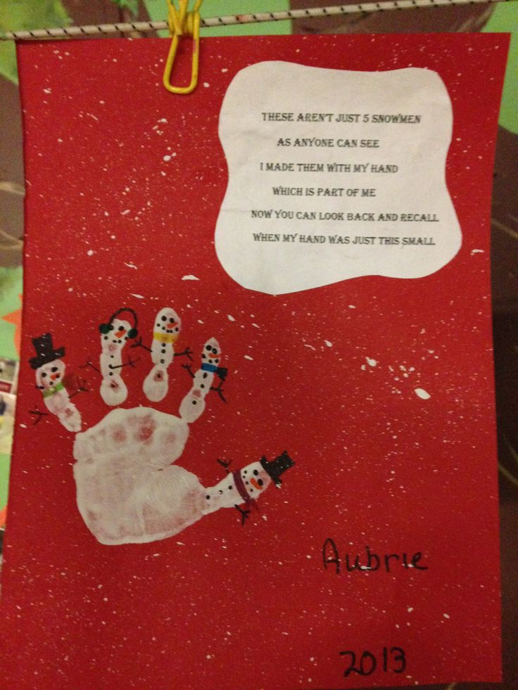 Handprint Snowmen w/ poem | Winter/Christmas | Pinterest