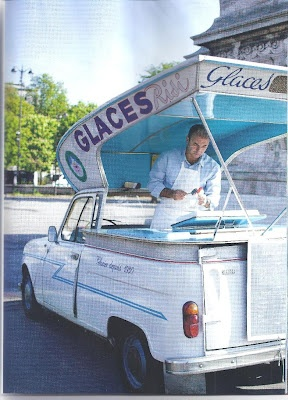 French  Ice Cream truck Cute !Him too!!!!!