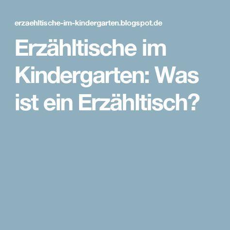 Erzähltische im Kindergarten: Was ist ein Erzähltisch?