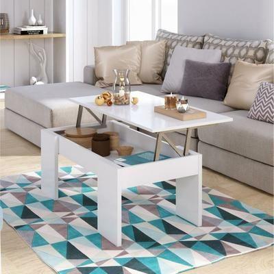 SWING Table basse transformable style contemporain blanc brillant - L 100 x l 50 cm - Achat / Vente table basse SWING Table basse - Cdiscount