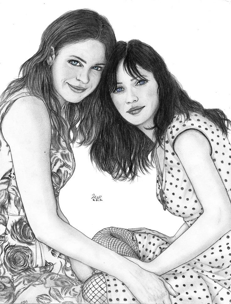 Las hermanas Zooey y Emily Deschanel