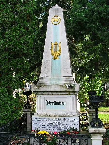Beethoven's grave in Vienna