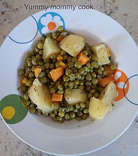 Yummy Mommy Cook: Αρακούλης λεμονάτος λαδερός!!!