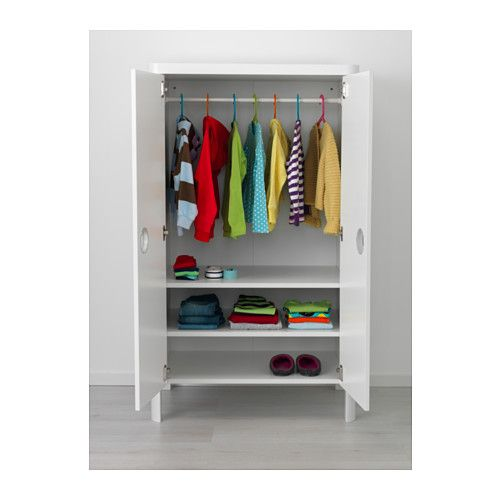 BUSUNGE Wardrobe, white 80x139 cm white