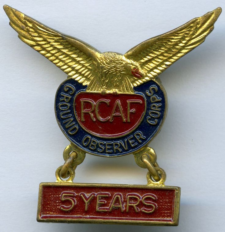RCAF Ground Observer Corps - 5 Years
