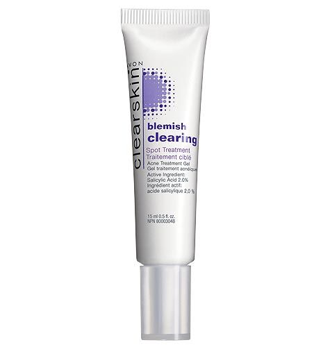 Avon: Clearskin® Blemish Clearing Spot Treatment. Clears up acne pimples & helps prevent new blemishes. Attacks acne on the spot. See results in 24 hours! .5 fl. oz.